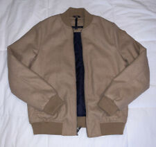 Tommy Hilfiger Men's Wool Varsity Bomber Jacket Small Tan...