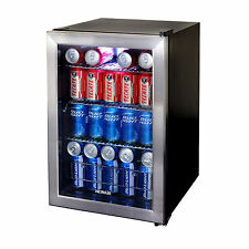 """New Air 84-Can Stainless Steel Beverage Cooler Ab-850 , 25.2"""" x 18.5"""" x 17"""" New"""