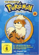DIE WELT DER POKEMON 11   1. Staffel / 31-33    DVD #ZZ   Pokémon