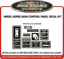 WHEEL HORSE  DASH  CONTROL PANEL DECAL SET  reprocduction