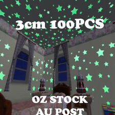 100PCS 3cm Luminous Star Wall Sticker Glow In The Dark Home Kid Room Décor Decal