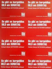 8x BILD AM SONNTAG / GUTSCHEIN / WERT = 18,40 €