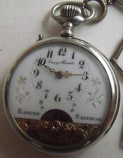 VERY RARE-HEBDOMAS-Отец Паисий-SWISS POCKET WATCH