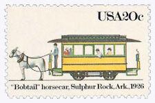 TEN Unused 20 Cent Streetcar Stamp, Sulphur Rock, Ark., Scott #2061