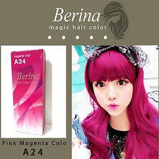 Berina Permanent Hair Dye Color Colour Cream A24 Magenta