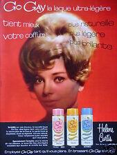 PUBLICITÉ 1964 HELENE CURTIS GO GAY LA LAQUE ULTRA LÉGÈRE