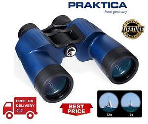 Praktica 7x50 Marine Charter Waterproof Binocular - Blue MHMC750BL (UK Stock)