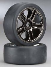 Traxxas XO-1 Super Car Replacement Stock Tires Wheels Front Black Chrome TRA6479