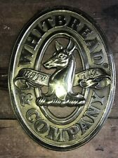 ORIGINAL WHITBREAD & COMPANY Est 1742 Heavy Brass BEER Wall Plaque Sign Brewery