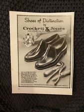 Crockett & Jones Shoes - 1977 Advertisement