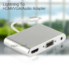lightning to HDMI VGA Audio Converter For iphone 6 6S 7 Plus 5 5S ipad Video TV