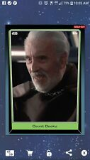 Topps Star Wars Card Trader FRIDAY THE 13th COUNT DOOKU 130cc Limited Chase