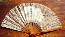 Fan Eventail Antique Important Sticks Hand Fan In Your Box