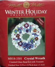 Mill Hill Cross Stitch Bead Kit Christmas 'Crystal Wreath' 18-3301