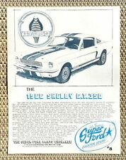 1966 FORD CAROLL SHELBY COBRA GT 350 MUSTANG 289 CAR LITERATURE FACT SHEET 3