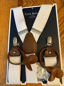 Club Room Men's Suspenders White One Size