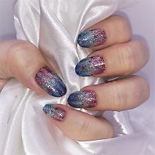 American Glitter color nail polish strips Zz195 street art wraps