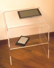 41 /× 35 /× h 43 cm Slato Comodino con cassetto Design Moderno in plexiglass Morfeo