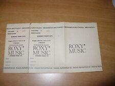 BIGLIETTO TICKETS CONCERTO ROXY MUSIC EUROPE TOUR '79 MONTREAUX 9 MARZO 1979