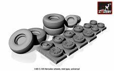Armory Models 1/48 LOCKHEED C-130H HERCULES WHEEL SET Resin Set