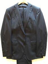 "$2500 Hugo Boss Selection Tailored Line Blue Stripe Suit 40 Jacket Trouser 34"" W"