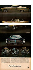 1967 PONTIAC  GTO - SPRINT - 2+2  ~  NICE ORIGINAL 3-PAGE MUSCLE CAR AD