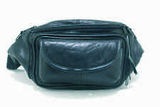 NEW BLACK SOFT LEATHER LARGE SIZE BUM BAG MONEY WALLET DESIGNED BY LORENZ 1964