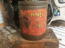 Vintage Advertising Tin 25Lb Banner Brand Coconut Made By The Franklin Baker Co.