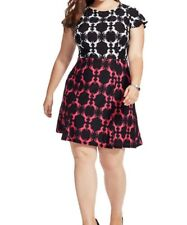 Anna Scholz Semi Sheer Stretch Jersey Shift Dress In Horse Print Size 18 (L)