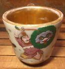 UNIQUE Antique Chinese Famille Rose LARGE Cup Shaving Mug Gold Gilt (Old Paris)