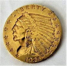 1925-D $2.5 Gold Indian Head Quarter Eagle Coin