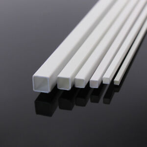 ABS02 36pcs Styrene ABS Square Tube Square Pipe Sections 500mm Architectural
