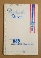 Nice Beechcraft Baron B55 Owners Manual Beech 55-590000-39