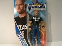 """WWE Wrestlemania Stone Cold Steve Austin 7"""" Figure New in Package"""