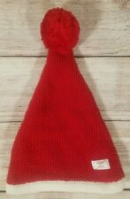 Janie and Jack Infant Size 0-3 Months Knit Stocking Cap Hat Red White Christmas