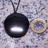 miracle healing stone EMF protection Shungite Pendant Om Symbol Round
