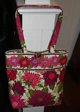 Vera Bradley Hello Dahlia!  Tote with Toggle Flower Floral Tortoise Lovely!