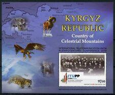Kyrgyzstan 2018 MNH Intl Telecommunication Union 1v M/S Wild Animals Stamps