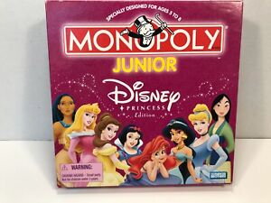 Monopoly Jr Disney Princess Edition by Parker Brothers 2004 Complete