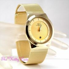 Relojes de pulsera fecha unisex de oro