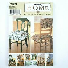Simplicity Pattern · 7966 · One Size · Home Chair Pads Futon & Glider Cover