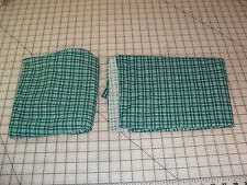 Green white plaid lycra fabric stretch costume ice skating dance approx 2 1/4 yd