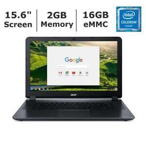 "15.6"" Acer Chromebook 15 CB3 532 Intel Celeron 1.6GHz 2GB 16GB WiFi BT Webcam"