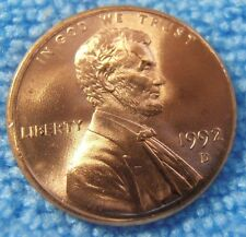 1992 D LINCOLN CENT - BU, Red, FREE SHIPPING
