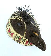 Indigenous Embera-Wounaan Basketry Mask Hand Woven Bird Mask Wall Art