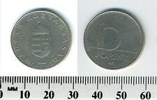 Hungary 1993 - 10 Forint Copper-Nickel Coin - Saint Stephan's Crown