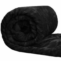EXTREMELY SOFT FAUX FUR THROW IN BLACK. SIZES- SINGLE, DOUBLE AND KING.
