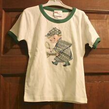 Toddler Boys White & Green Detective Tee by Gus & Lola - Size 3