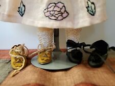 Tiny Shoes for Antique/Other Doll, 2 Prs.,Fits Bleuette