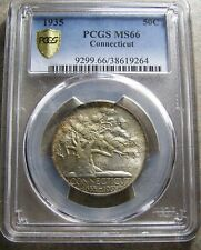 1935 Connecticut Commemorative Silver Half Dollar  PCGS  MS66